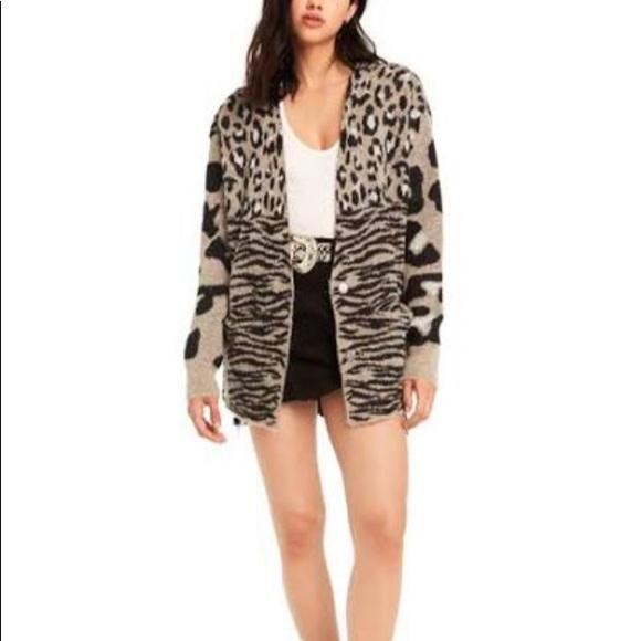 74774b9ff6 Wildfox animal print cardigan. M 5bc3985c2e14786531029259. Other Sweaters  ...